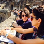Kathy and Tour Guide at Coliseum 2015